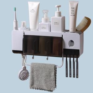 Escova de dentes titular caso dentífrico distribuidor automático Squeezer Banho Caixa de armazenamento com copos de banho Acessórios Sets 3 tamanhos