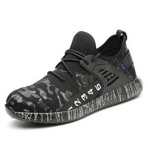 불멸 일 안전 부팅 에어 메쉬 남성의 안전 신발 강철 발가락 부츠 남성 펑크 - 증거 일 스니커즈 (5) # 20 / 20D50