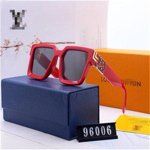 with box MILLIONAIRE Sunglasses full frame Vintage designer sunglasses for men Shiny Gold Logo Louìs Vuìttõn Gold plated Top 96006