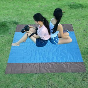 Pocket Picnic Waterproof Beach Mat Sand Free Blanket Camping Outdoor Picknick Tent Folding Cover Bedding 275x 215cm Dropship 713