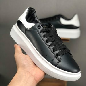 [with box] Designer Casual Shoes for Men black white shoes Womens Fashion Party Platform Athletics flat Height Increasing leather Sneakers