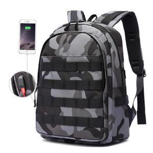 PUBG Zaino Uomini Bag Mochila Battlefield USB Fanteria pacchetto Camouflage Viaggi Tela Jack multifunzionale Knapsack scuola BagsMX190903