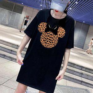 Fashion Women T Shirt Dresses Summer 20s New Womens Printed T Shirts Dresses Casual Tees Dress Size M-4XL