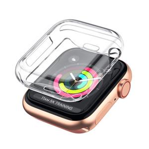 Caso para Apple iWatch reloj Serie 5 4 40 mm 2019 Nueva iWatch 1 2 3 42 mm 38 mm todas Ultra Thin-Cubierta protectora del caso de TPU ronda HD despejan