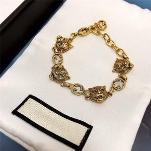 Trendy Woman Bracelets New Brass Material Bracelet Female Double G Letter Tiger Head Bracelet Female Personality Necklace