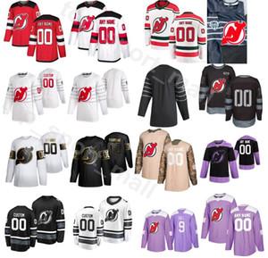 Benutzerdefinierte New Jersey Devils Hockey 76 PK Subban Trikots Herren Golden Edition Fights Cancer 20 Blake Coleman 91 Taylor Hall 17 Wayne Simmonds