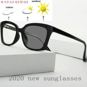 Gafas de lectura Reading Frame los vidrios de Sun Fotocromáticas Plaza de la lente completa la moda de los hombres clásicos de las mujeres con la caja NX