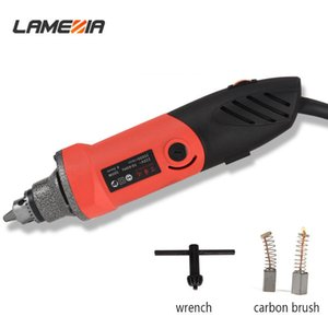 LAMEZIA 220V 500W Mini Electric Winkelschleifer Regelgeschwindigkeit Bohrerschleifmaschine Fräsen Polieren Drehwerkzeug T200602