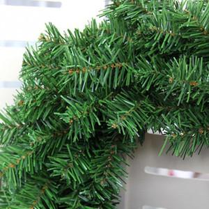 2018 Ramas partido de Navidad de la pared del hogar verde de la Navidad Corona de Navidad decoración de la puerta de pino Y18102609 100