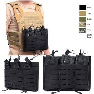 Airsoft Gear Molle sacchetto della maglia del camuffamento Cartucce Fast Clip munizioni Carrier Ammo Holder tattico Mag Triple Magazine Pouch NO11-562