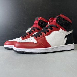 With box 2020 New High OG Satin Snake 1s I WMNS bred mens womens basketball shoes outdoor trainers Sports Sneakers Baskets Designer Zapatos