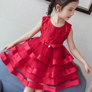 Eachin Mädchen Kleider Kinder-Stickerei-Druck Customes Kleidung der Baby-Prinzessin Halloween-Kleid Hochzeit Geburtstag Tutu-Kleid