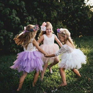 2018 New Lovely baby flower girl dress Girls Birthday Party Special Occasion Dresses Princess Pageant Little Girl dress