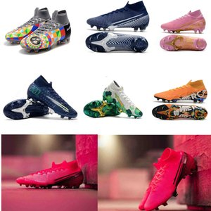 2020 Mens Mercurial Superfly VII 7 Elite 360 FG CR7 Ronaldo Future Lab Sogno Velocità 001 002 scarpe da calcio Scarpe da calcio tacchetti