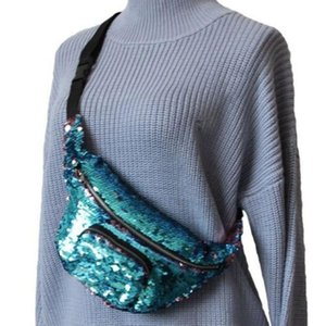 Reversible Mermaid Sequin Glitter Waist Bag 2018 New Style Fashion Fanny Pack Belt Bum Bag Pouch Hip Purse Traveling Wallet Bags