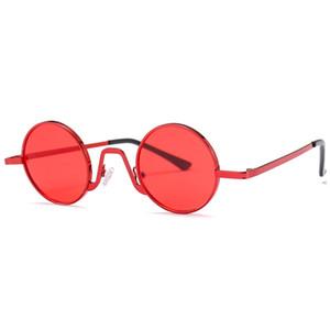 Retro Sonnenbrille rund für Mädchen European American Round Lens UV400 Vintage Sonnenbrille High-End-Brillen Rabatt Online