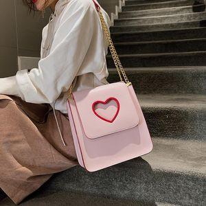 Belle2019 Rui Man Bag Lovely Girl Peach Chain Small Square Package Single Shoulder Satchel Woman Joker