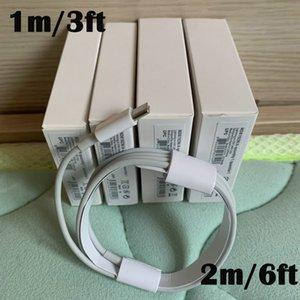 100 piezas 7 generaciones original OEM 1m calidad de 3 pies 6 pies 2 M USB teléfono de sincronización de datos cable de carga con el paquete al por menor