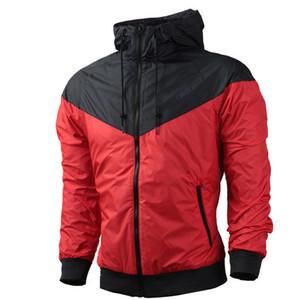 Hombres Mujeres sudadera con capucha capa de la chaqueta de manga larga otoño Deportes cremallera rompevientos Ropa para Hombre sudaderas con capucha del tamaño extra grande tamaño asiático rompevientos