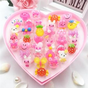 Estilos Mix presentes bonitos da festa de anos dos desenhos animados Acrílico do filho Cuff Anéis para meninas Childrens Anel Jóias