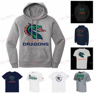 XFL jersey del fútbol de Seattle dragones Sudadera con capucha para hombre de la camiseta de Jonathan Alston Parker Baldwin Kirk Barron Isaías batalla camisetas Imprimir