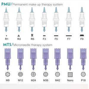 20PCS PMU MTS Daimi Yedek Artmex V8 V9 V6 V3 Kalıcı Makyaj Makine Derma Pen için İğne Kartuş Dövme İğneler