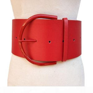 Fashion Classic round buckle Ladies wide leather belt Women's 2018 design high quality female casual leather belts for Coat
