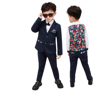 2-12T Kids Jacket Vest Pants Wedding Tuxedo Suit Children Birthday Costume Flower Boys Formal Blazer Prince clothing Set