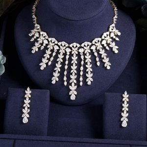 Fashion Cubic Zircon Wedding Jewelry Set For Women Hot Selling Dress Accessories Crystal 4pcs Sets Bridal Jewelry Set