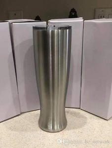 30oz طبقة مزدوجة زهرية البهلوان الفولاذ المقاوم للصدأ البيرة الأقداح Pilsners المنحنى كوب ماء مع الأغطية شحن مجاني