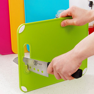 Kitchen Cooking Tool Creative Non-slip Cutting Board Portable Plastic Chopping Block with Knife Sharpener T200703
