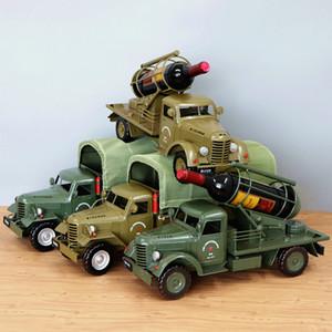 Creative modèle de voiture jouets, Tinplate Retro Vintage Car, Chine Jiefang Marque camion, Manmade Racks Vin, Cadeaux, Collections, Décoration