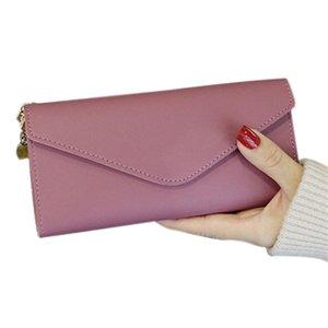 2020 Tassel Wallet Frauen Lange Mappe PU-Leder-Troddel-Frauen-Mappen Reißverschluss weiblich Multifunktionale Ausweistasche Clutch