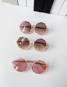 Fashion Kids sunglasses summer girls waves lens metal frame Sunglasses Kid flowers Beach sunglasses A3111