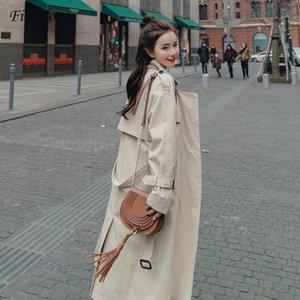 Giacca Fitaylor donne inverno lungo Trech cappotto caldo Oversize Windbreaker signore chamarra Cazadora Mujer