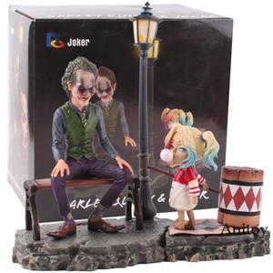 DC Joker Suicide Squad Harley Quinn Joker figura di azione del PVC Joker e Harley Quinn bambola da collezione Modello Toy Set