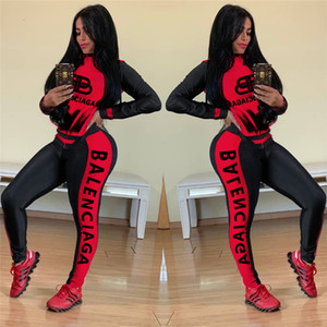 Las mujeres de manga larga trajes Set de 2 unidades chándal de jogging sportsuit capucha ropa deportiva legging medias Sweatshit juego del deporte T16