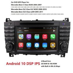 Android 10 7 polegadas 2 Din rádio Car Auto Por C-Class W203 2004-2007 CLC W203 2.008-2.010 GPS Navigation RDS TPMS DVR carro dvd