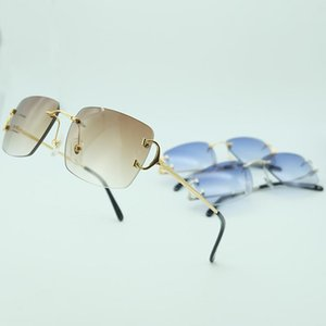 Rimless Sunglasses For Men Luxury Sun Glasses Carter Glasses Frame For Driving Square Oculos De Sol Women Designer Accessories cbrvn