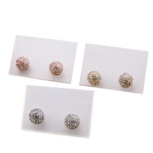 Нью-Йорк Дизайн ушной стад мода хрустальные серьги алмазы Pave мяч серьги сплав дешевые известные модные украшения