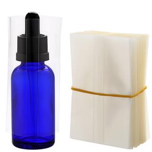 Wärme PVC Shrink Wrap Folie für Glasflasche 30ml E-Flüssigkeit E-Saft-Flaschen-Glas-Dropper Rohr Freies Verschiffen schrumpft