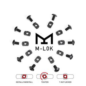 100pcs M-Lok mlok Keymod 1 sırası ile uyumlu bir somun paketi ray vidaları ve somunları vida