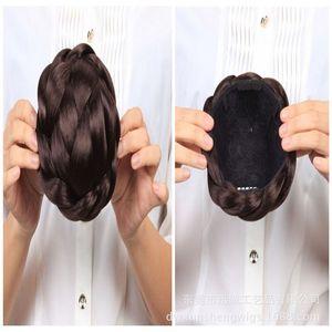 Дунгуань Завод Прямая Tie волос Тарелка Bun Chignon Люкс Bud Глава Daihatsu сумка Pan Head Кнопка Договаривающееся Easy Care