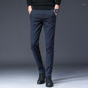 2020 Новое прибытие Mens Casual Бизнес Pant Мужчины Mid Full Length Марка Stretch Брюки Обычная Straight Black Gary Большой размер 28-381