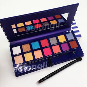 Neue Ankunft Makeup Riviera 14 Farbe Lidschatten-Palette mit Pinsel Schönheit Schimmer Matt Lidschatten Hügel Palette versandkostenfrei