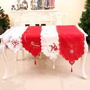 Bandera decorativa hecha a mano de la tabla de la Navidad, mantel de la Navidad, camino de mesa del día, decoración del día de fiesta