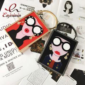 marchio di moda orecchini disegno sexy donna labbra cuoio dell'unità di elaborazione borsa delle signore borsa da sera borsa a tracolla della frizione mini messenger borsa