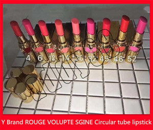 SICAK Dairesel tüp ruj 9 renk Dudak Makyajı Y marka Mat ruj Rouge Volupte Shine dudak kalemlerinin 3.5g ücretsiz gönderim