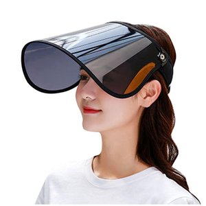 #H20 Anti-spitting Sun Hats for Women Visors Hat Fishing Beach Hat UV Protection Cap Casual Womens Summer Caps Ponytail Brim