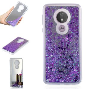 Per Motorola Moto G7 Power Case Cover Custodie per telefoni cellulari Quicksand Flash Glitter Powder Mirror